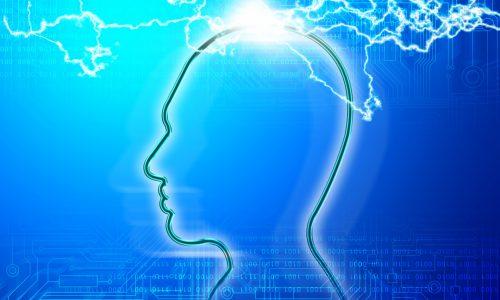 思考中の脳のイメージ