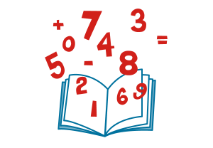 数字が浮かんでいる本