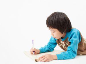 勉強をする小学生の男の子